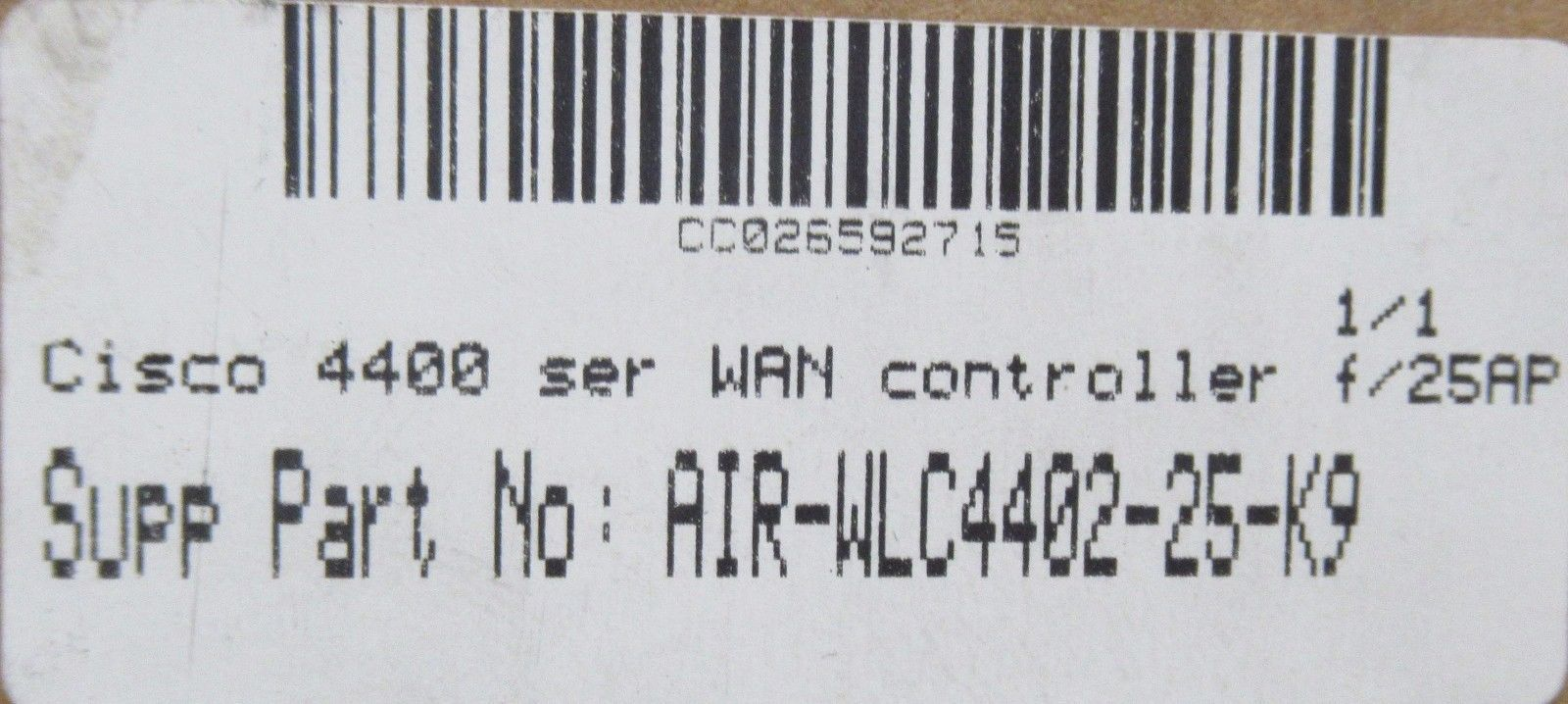 NEW SEALED Cisco AIR-WLC4402-25-K9 4400 Series Wireless